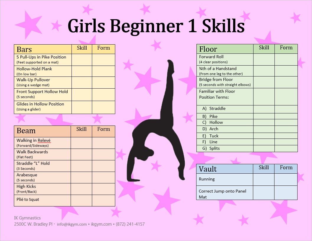 Children and adult gymnastic classes ik gymnastics for 1 2 3 4 all the ladies on the floor